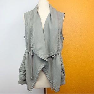 Max-Jeans Shawl Collar Cargo Vest
